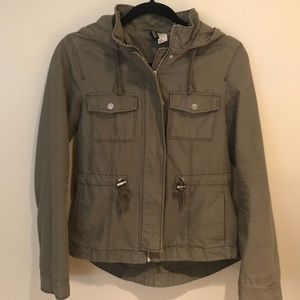 H&M utility jacket with hood